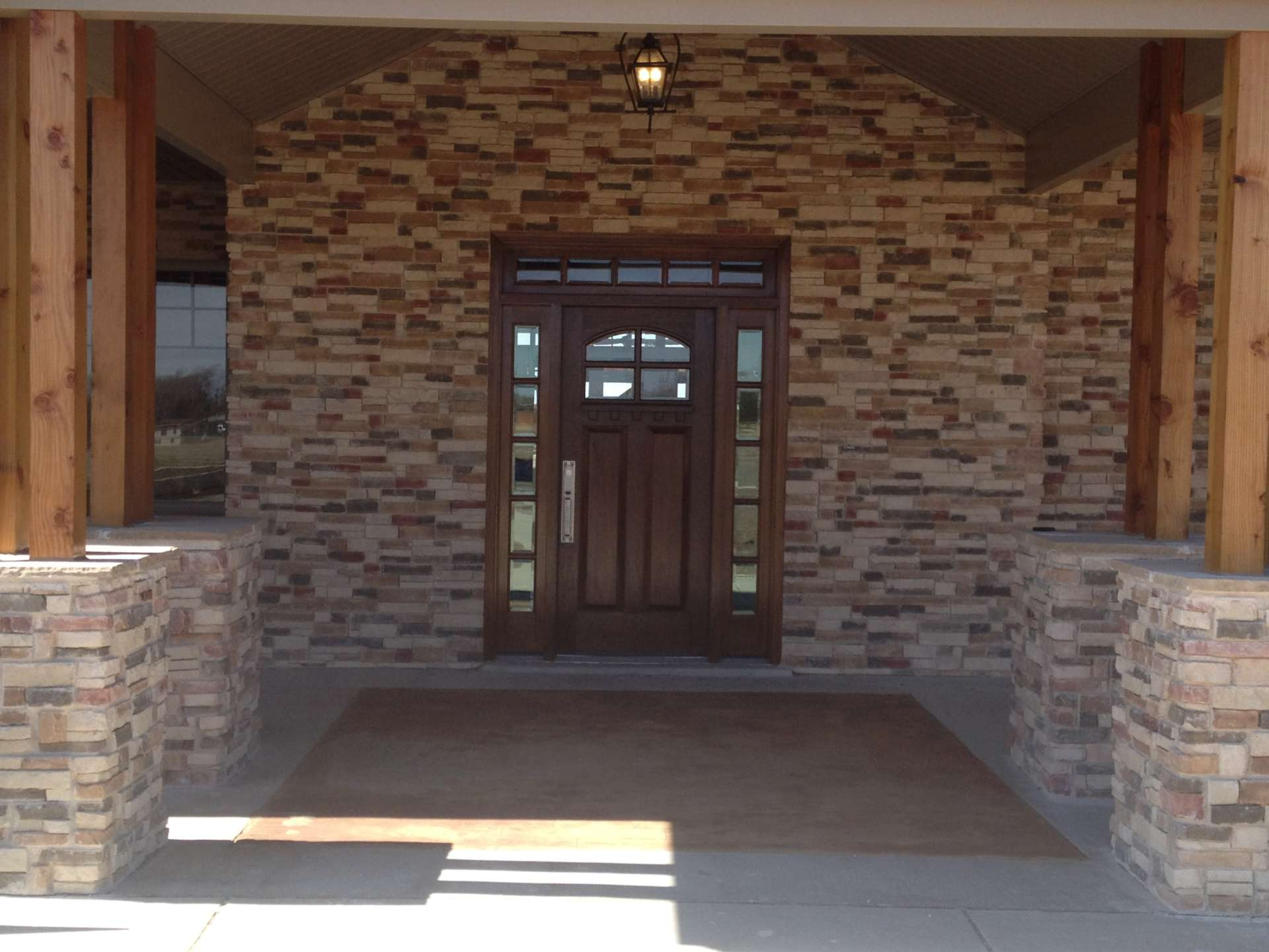 Front Entrance and Porch with wood columns