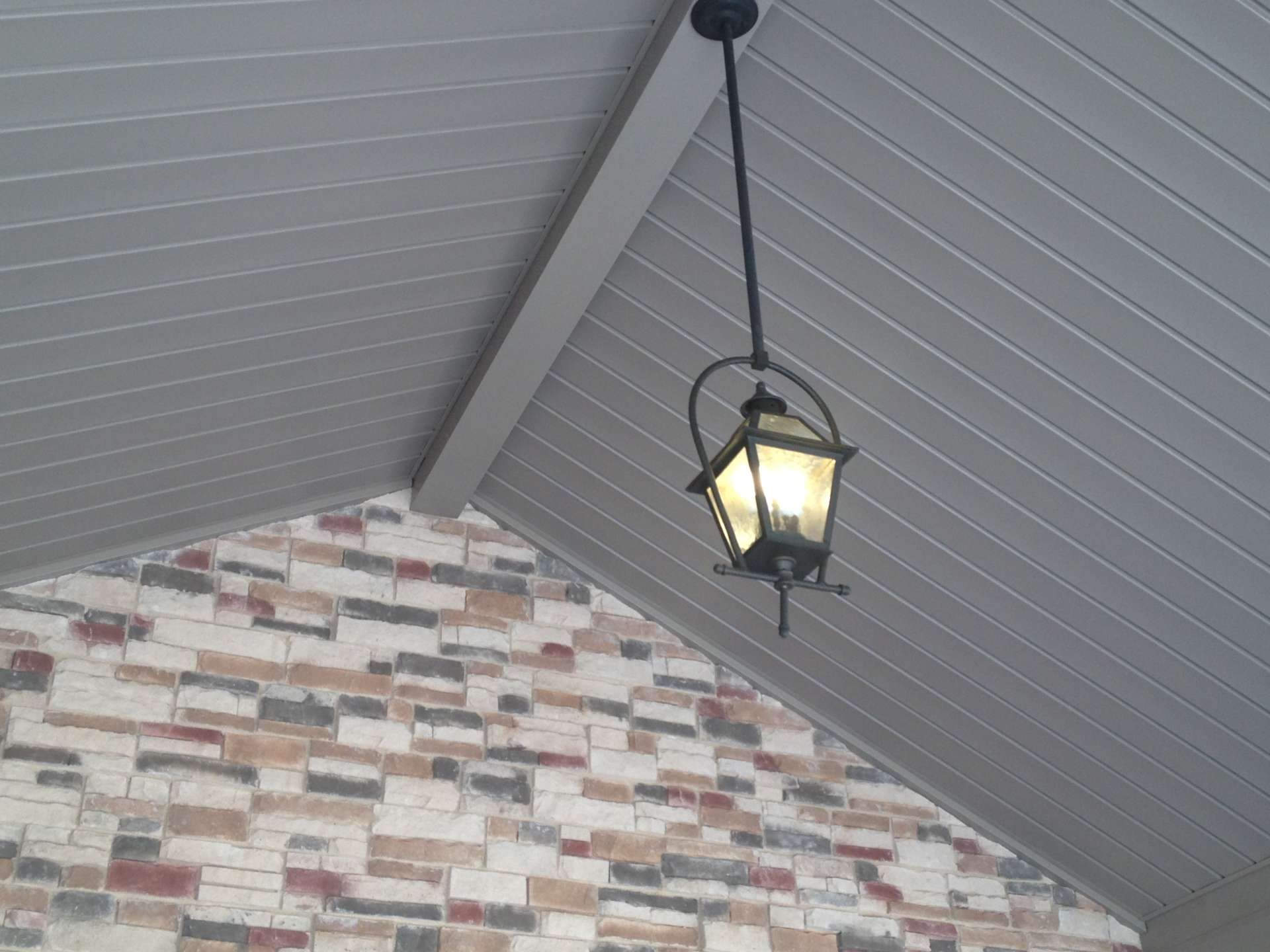 Porch Light with masonry