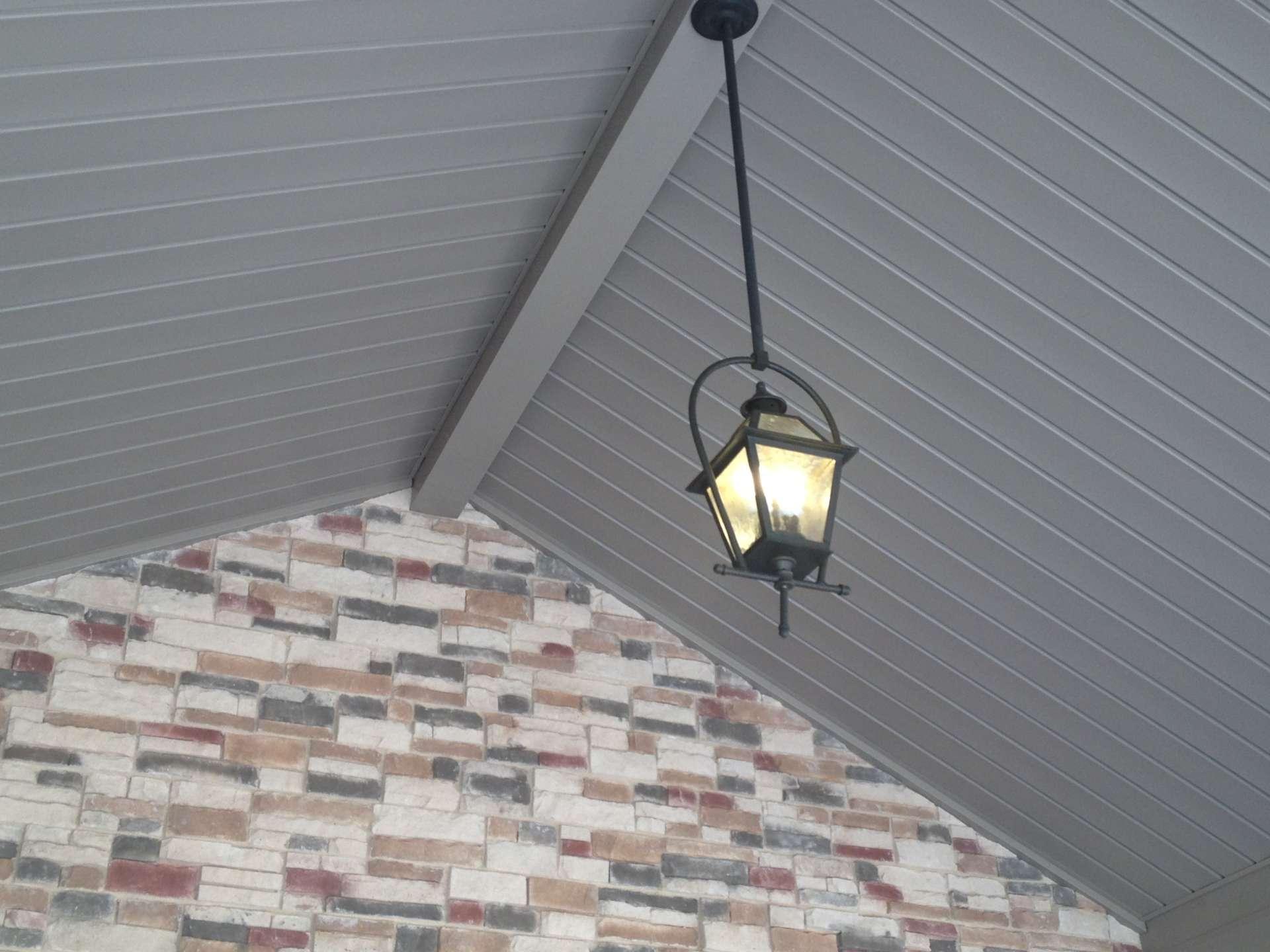 Porch Light with masonry