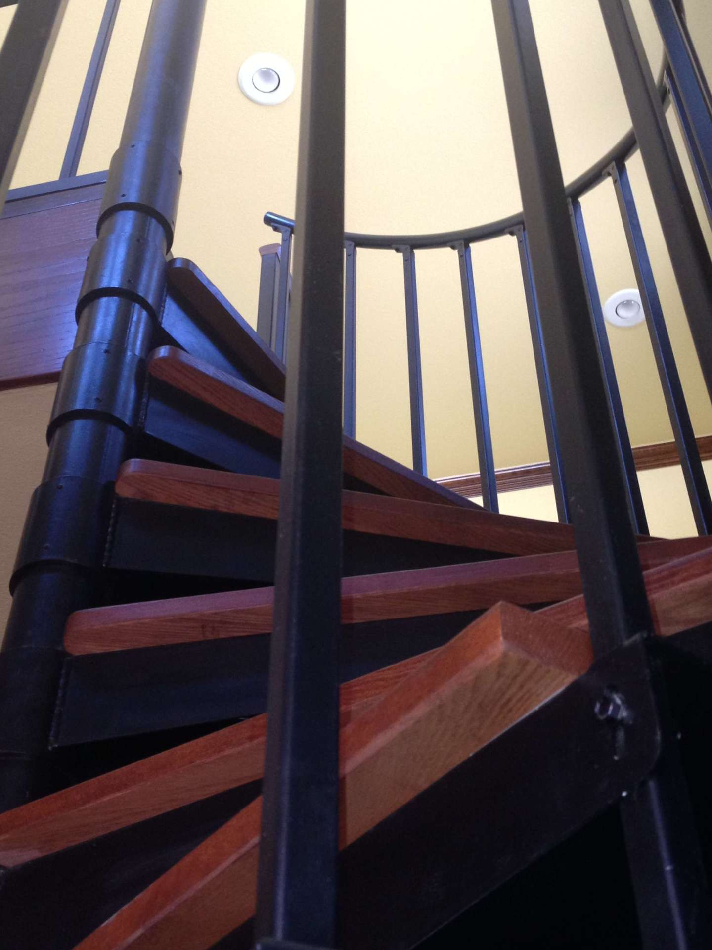 Close Up of Custom Spiral Staircase