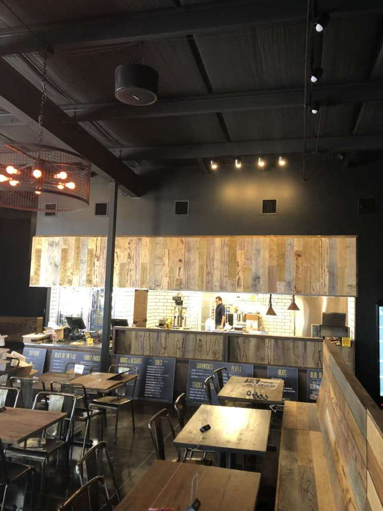 Dickey's Barbecue Pit Interior dining area